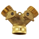 WAL-RICH 4603003 Two Way Lead Free Solid Brass Tap Manifold - Turns one tap into two