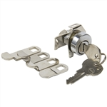 Em-D-Kay 4735 Mailbox Lock With Dust Shutter And Clip With 5 Cams And NA14 Keyway