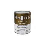 SHEFFIELD BRONZE 4740 1 Pint 16 OZ Exterior Super Bright Gold High Traffic Metallic Enamel Paint Oil Alkyd Based