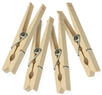 My Helper, 4850SM, 50 Pack, Wood Clothespin With Spring, Large Size
