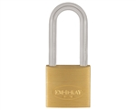 "Em-D-Kay 50EL 2"" Body Solid Brass Padlock With 4"" Shackle"