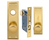 Em-D-Kay (Marks 91A/3 Like) 5100AL Left Hand Heavy Duty Polished Brass Mortise Entry Lockset, Surface Mounted Screw-on Knobs Lock Set