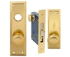 Em-D-Kay (Marks 91A/3-X Like) 5100XL Left Hand, Wide Face Plate, Heavy Duty Brass Mortise Entry Lockset, Surface Mounted Screw-on Knobs Lock Set