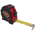 "Tuff Stuff 51111 3/4"" x 12' Rubber Covered Magnetic Tipped Tape Measure With Quick Lock And Easy Read Measurements"