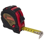 "Tuff Stuff 51113 1"" x 25' SAE/MM Rubber Covered Magnetic Tipped Tape Measure With Quick Lock And Easy Read Measurements"
