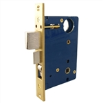 "Em-D-Kay 5122 Polished Brass Heavy Duty Mortise Entry Lock Body With A 2-1/2"" Backset And A 1"" X 7-1/8"" Faceplate (Compatible With Marks 22AC )"