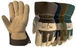 Wells Lamont, 5130L, Large, Men's, Suede Cowhide Leather Palm Glove