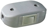 Pass & Seymour, 5406WCC10, 6 Amp, 120 Volt, AC, White, Heavy Duty Feed Thru Cord Switch