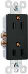 Leviton, 5675, Brown Decora Duplex Receptacle Outlet, 15A 125V, With Plate