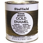 SHEFFIELD BRONZE 5740 1 Quart 32 OZ Exterior Super Bright Gold High Traffic Metallic Enamel Paint Oil Alkyd Based