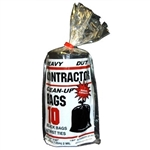 "Poly-pak Industries 10212 2 Mil 42 Gallon Heavy Duty Tough Contractor Black Garbage Trash Clean-Up Bags 7 Bushel Capacity 10 PACK 32""X50"""
