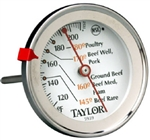 "Taylor, 5939N, 5-1/2"" Stainless Steel Classic Style Meat Dial Thermometer"