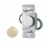 Cooper, 6000VW-K2, Rotary dimmer switch with preset, 600W, White, Ivory