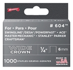 "Arrow, 60430, 1000 Pack, 1/4"" Heavy Duty Staple, Wide Crown, Fits Swingline/Desa/Powerfast"