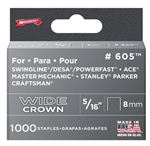 "Arrow, 60530, 1000 Pack, 5/16"" Heavy Duty Staple, Wide Crown, Fits Swingline/Desa/Powerfast"