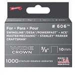 "Arrow, 60630, 1000 Pack, 3/8"" Heavy Duty Staple, Wide Crown, Fits Swingline/Desa/Powerfast"