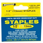 "Arrow, 60830, 1000 Pack, 1/2"" Heavy Duty Staple, Wide Crown, Fits Swingline/Desa/Powerfast"