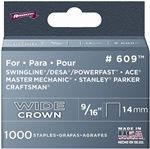 "Arrow, 60930, 1000 Pack, 9/16"" Heavy Duty Staple, Wide Crown, Fits Swingline/Desa/Powerfast"