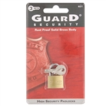"Guard 621 Small 3/4"" Solid Brass Body Padlock"