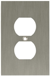 Brainerd, 64930, SATIN NICKEL, Concave Single Duplex Wall Plate, Taller & Wider