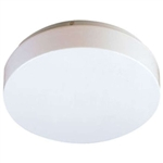 "650-NC-72, 32 Watt & 40 Watt (72 Watt), 18"" D x 3"" Depth, Circline Round Floating Fixture, Smooth White Molded Acrylic Drum"