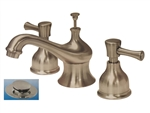 Aqualux Vienna Collection, 673-9604, Satin Nickel, Widespread Lavatory Bathroom Sink Faucet, With Pop Up