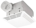 Broan Nuton, 678, Ventilation Bathroom Fan and Light Combination, 50 CFM and 2.5-Sones