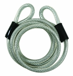 "Guard Security, 681, 5/16"" x 6' Feet, Vinyl Coated Coiled Braided Wires Cable with Loop Ends"