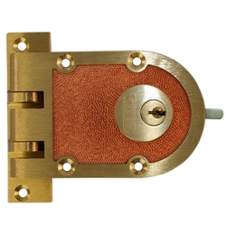Segal 687 Solid Bronze Jimmy Proof Deadlock Double Cylinder Lock Set, Commercial Grade Locksmith Quality, Bronze (US10)