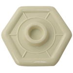"Ultra Hardware 69908 Almond Plastic 4-1/4"" Wall Protector Plate"
