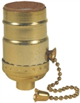 Westinghouse, 70431, 3 Way Pull Chain Lamp Socket, Medium Base, Brass