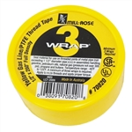 "MILL-ROSE, 70820, 1/2"" x 260"" 3-WRAP Yellow Gas Line Teflon PTFE Thread Seal Tape"