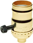 Pass & Seymour 7090PG 250 Watt 250 Volt 3 Way Brass Finish Incandescent Turn Key Metal Shell Lamp Holder Socket