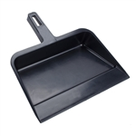 "HBC, 712, 12"", Black, Commercial Plastic Tough & Flexible Dust Pan Dustpan"