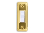 Heath Zenith 715G-A Wired Push Button, Gold Finish with Lighted White Center Button