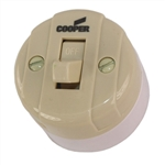 Pass & Seymour, 735ICC10, 10A, 125V, 5A 250V, Ivory, Single Pole, Surface Mounted Switch