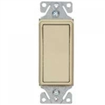 Cooper, 7513V, Illuminated Decorator 3-Way Ivory Lighted Rocker Switch Decorator