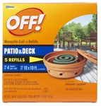 S C Johnson Wax, 75203, Off! 5 Count, Mosquito Coil Refill, Country Fresh Scent