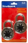 "Tru Guard, 807388, 2 Pack, 2"", Stainless Steel Combination Lock, Black"