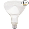 GE 80940 65-Watt 600-Lumen 120V Track and Recessed, Indoor Flood Reflector, R30 Incandescent Light Bulb, Soft White, 6-Pack