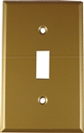 Mulberry, 81071, 1 Toggle Switch 1 Gang, Steel, Sprayed Brass, Wall Plate