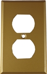 Mulberry, 81101, Duplex Receptacle Outlet  1 Gang, Steel, Sprayed Brass, Wall Plate