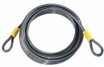 Kryptonite KryptoFlex 525, 210719, 2.5' x 5mm, Looped Bicycle Braided steel Cable