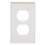 Mulberry 86101 White, 1 Gang, 1 Duplex Opening, Steel Wall Plate