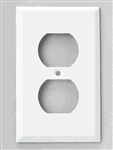 Jackson Deerfield, 8WS108, Pro-Plate, White Steel Duplex Outlet Wall Plate