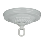 Satco, 90-1101, White, Ribbed Canopy Hanger Kit Diameter 5'' Center Hole 1-1/16''