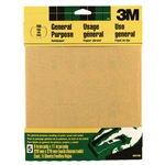 "3M, 9001, 5 Pack, 9"" x 11"", 150 Grit, Aluminum Oxide, All Purpose Sandpaper"