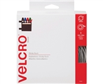 Velcro 90082, White, 3/4 x 15 ft. Roll, Sticky Back Hook and Loop Fastener Tape with Dispenser