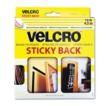 Velcro 90083, Beige, 3/4 x 15 ft. Roll, Sticky Back Hook and Loop Fastener Tape with Dispenser