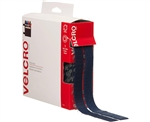 "Velcro 90084, Navy, 3/4"" x 15' FT Roll, Sticky Back Hook and Loop Fastener Tape with Dispenser"